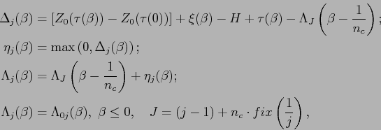 \begin{equation*}\begin{aligned}\Delta_j(\beta) &=\nobreak\discretionary{}{\hbox...