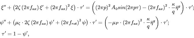 \begin{equation*}\begin{aligned}\xi^{\prime\prime} &+ \left(2\zeta\left(2\pi 